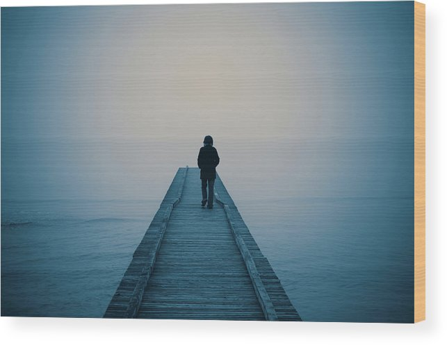 Mental Health Wood Print featuring the photograph Walking Alone by Profeta
