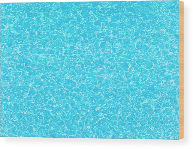 Cool Attitude Wood Print featuring the photograph Water Wave Pattern Of Swimming Pool by Anddraw