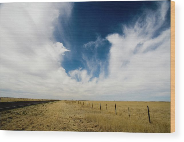 Scenics Wood Print featuring the photograph West Texas Grasslands United States Of by Tier Images
