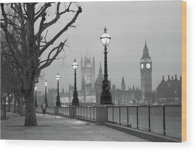 Scenics Wood Print featuring the photograph Westminster At Dawn, London by Gp232