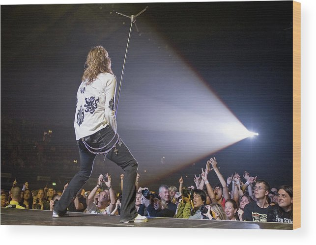 Heavy Metal Wood Print featuring the photograph Whitesnake - London by Neil Lupin