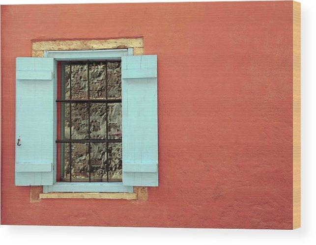 Greece Wood Print featuring the photograph Window by Maria Toutoudaki