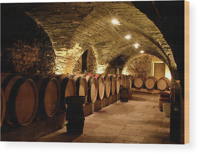 Arch Wood Print featuring the photograph Wine Cellar by Brasil2