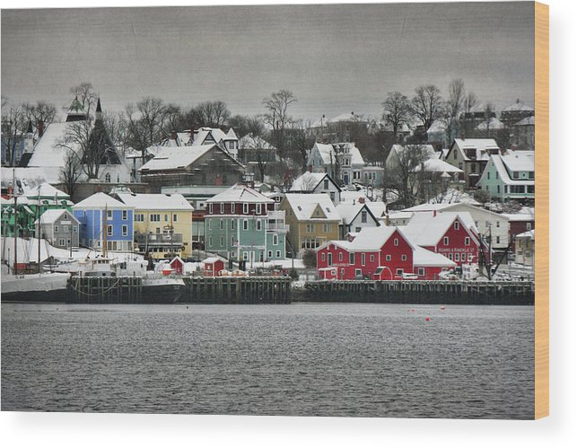 Snow Wood Print featuring the photograph Winter In Lunenburg by Amanda White