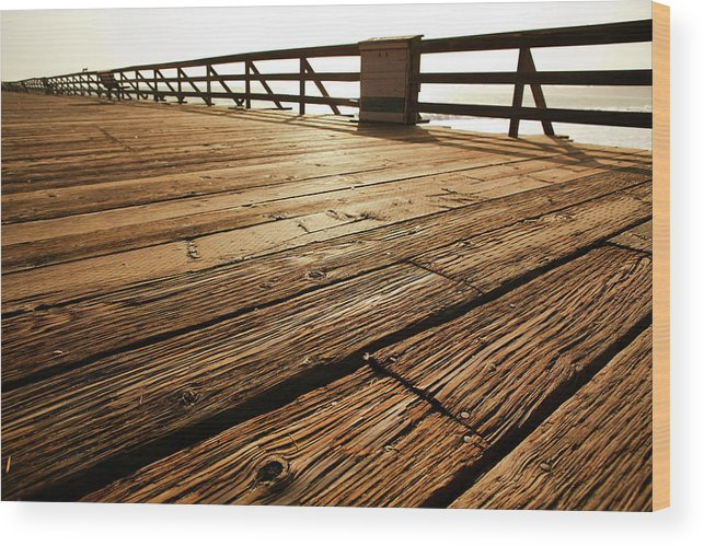 Scenics Wood Print featuring the photograph Wooden Pier by Timnewman