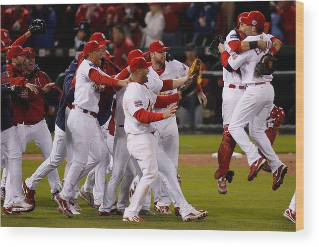 St. Louis Cardinals Wood Print featuring the photograph World Series Game 5 Detroit Tigers V by Dilip Vishwanat