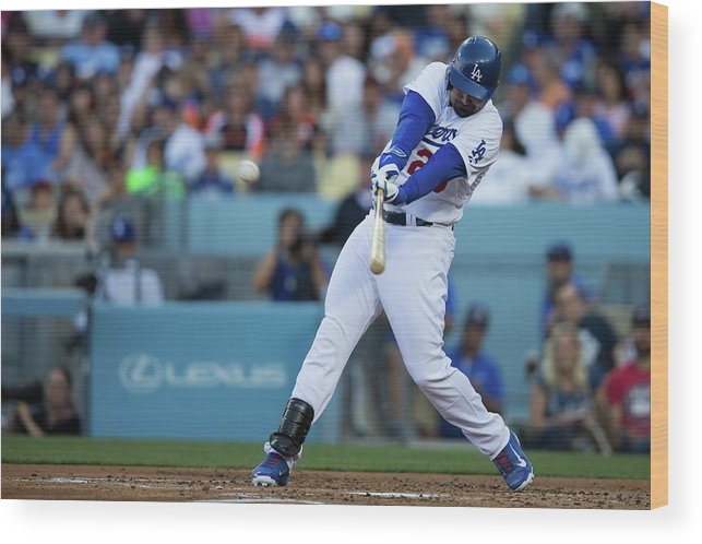 California Wood Print featuring the photograph Adrian Gonzalez by Paul Spinelli