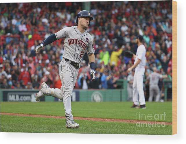 Alex Bregman Wood Print featuring the photograph Alex Bregman by Maddie Meyer
