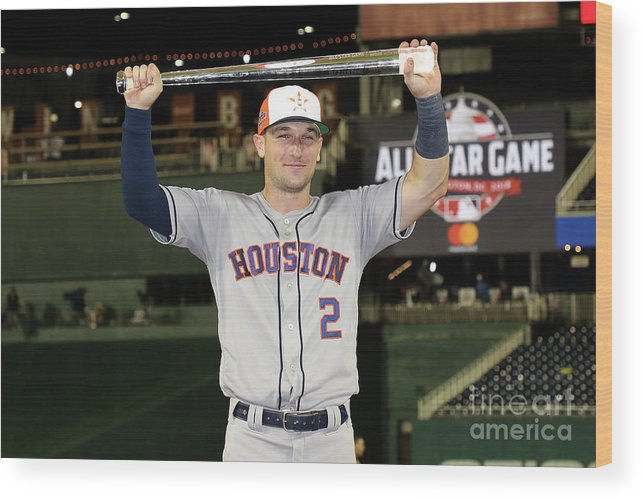 Alex Bregman Wood Print featuring the photograph Alex Bregman by Rob Carr