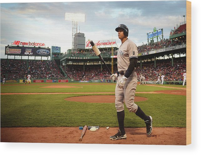 People Wood Print featuring the photograph Alex Rodriguez by Adam Glanzman