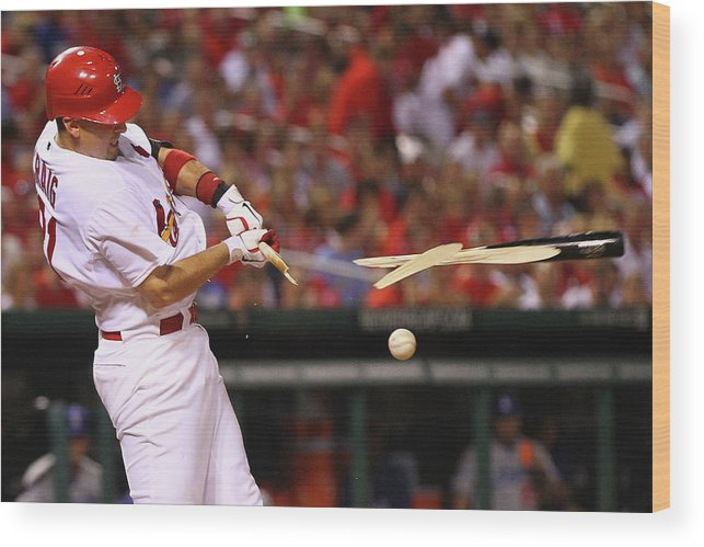 St. Louis Cardinals Wood Print featuring the photograph Allen Craig by Dilip Vishwanat