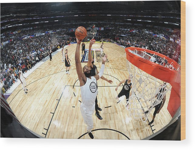 Nba Pro Basketball Wood Print featuring the photograph Andre Drummond by Andrew D. Bernstein