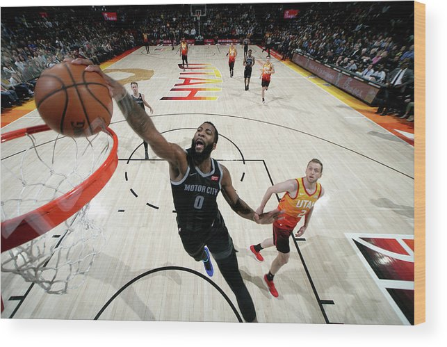 Nba Pro Basketball Wood Print featuring the photograph Andre Drummond by Melissa Majchrzak