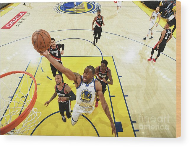 Playoffs Wood Print featuring the photograph Andre Iguodala by Andrew D. Bernstein