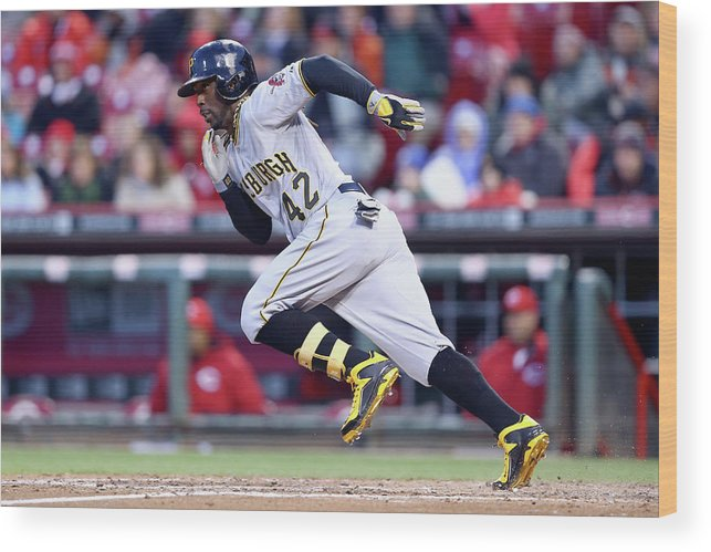 Great American Ball Park Wood Print featuring the photograph Andrew Mccutchen by Andy Lyons