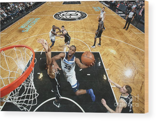 Nba Pro Basketball Wood Print featuring the photograph Andrew Wiggins by Nathaniel S. Butler