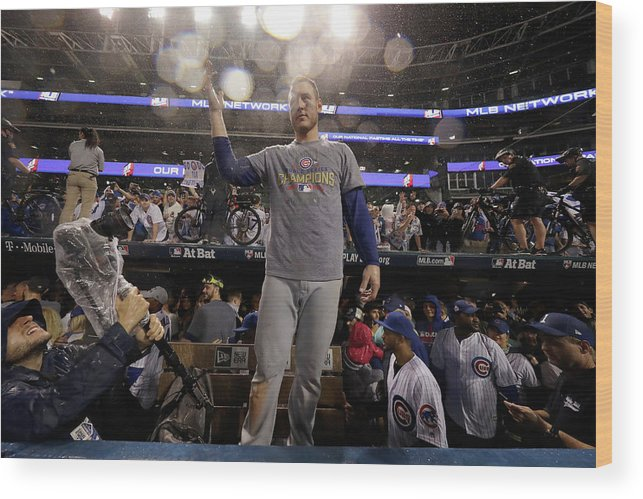 People Wood Print featuring the photograph Anthony Rizzo by Jamie Squire
