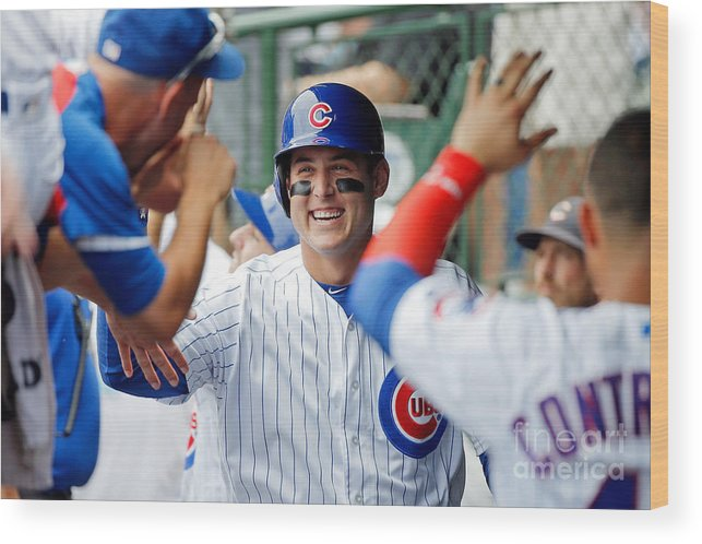 People Wood Print featuring the photograph Anthony Rizzo by Jon Durr
