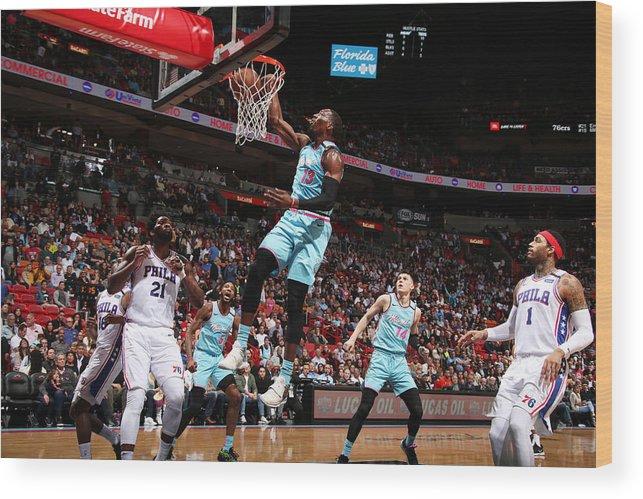 Nba Pro Basketball Wood Print featuring the photograph Bam Adebayo by Issac Baldizon
