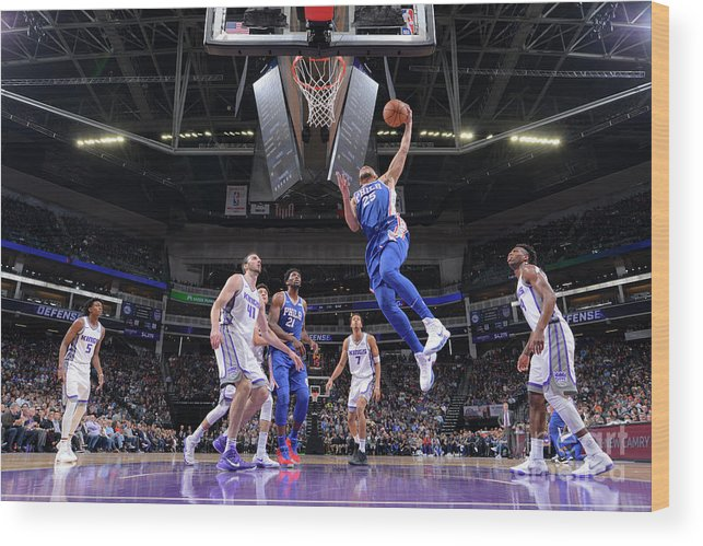 Nba Pro Basketball Wood Print featuring the photograph Ben Simmons by Rocky Widner