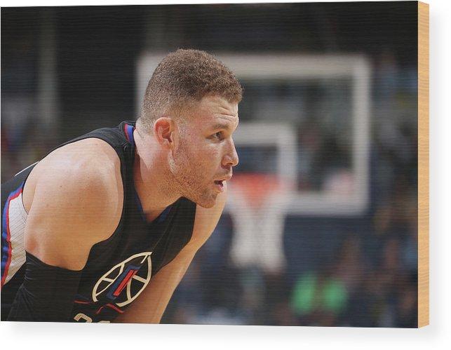 Nba Pro Basketball Wood Print featuring the photograph Blake Griffin by Joe Murphy