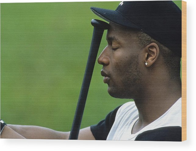 American League Baseball Wood Print featuring the photograph Bo Jackson by Ronald C. Modra/sports Imagery