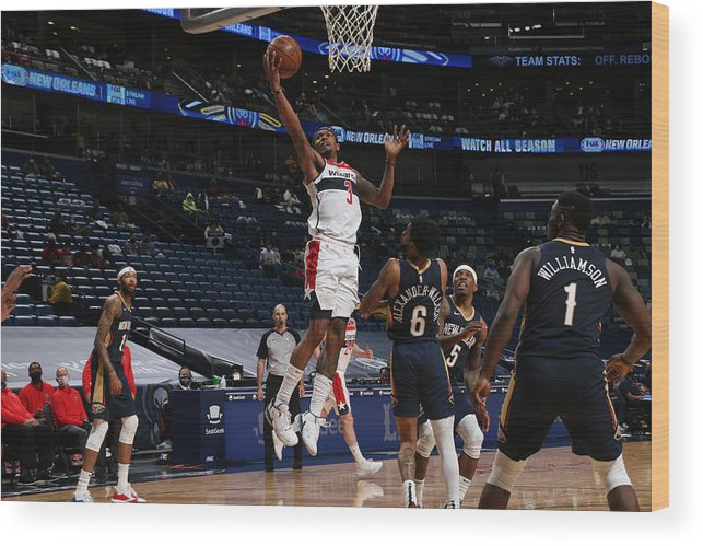 Smoothie King Center Wood Print featuring the photograph Bradley Beal by Layne Murdoch Jr.