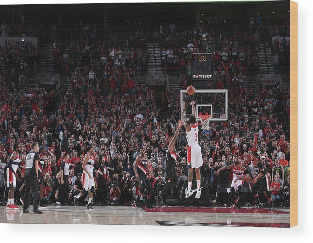 Nba Pro Basketball Wood Print featuring the photograph Bradley Beal by Sam Forencich