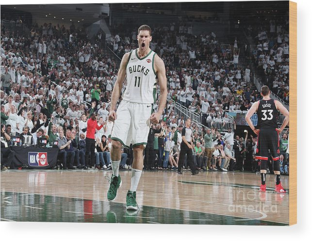 Playoffs Wood Print featuring the photograph Brook Lopez by Nathaniel S. Butler