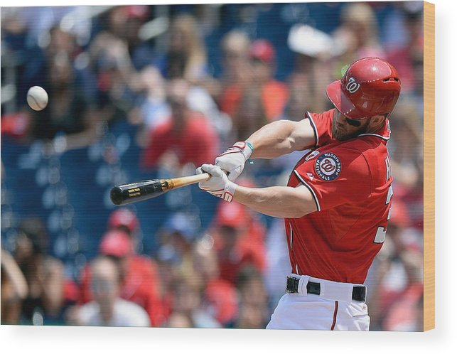Second Inning Wood Print featuring the photograph Bryce Harper by Patrick Mcdermott
