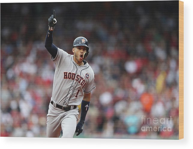 Three Quarter Length Wood Print featuring the photograph Carlos Correa by Elsa