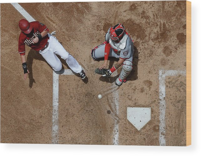Second Inning Wood Print featuring the photograph Chris Owings by Christian Petersen