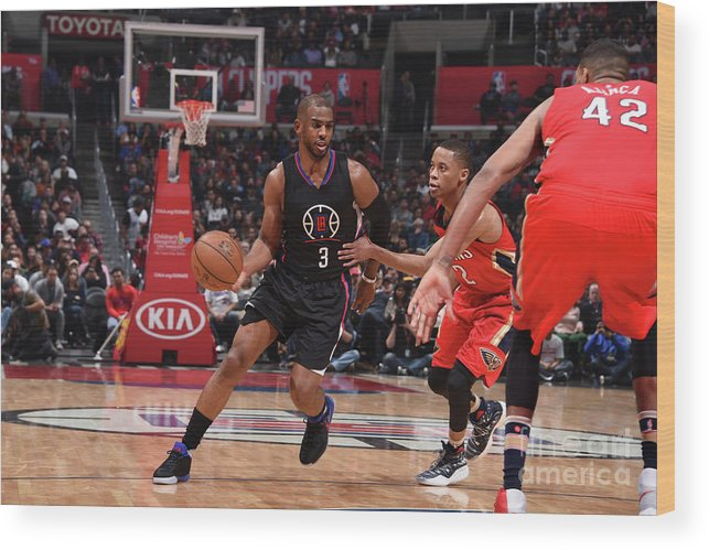 Nba Pro Basketball Wood Print featuring the photograph Chris Paul by Adam Pantozzi