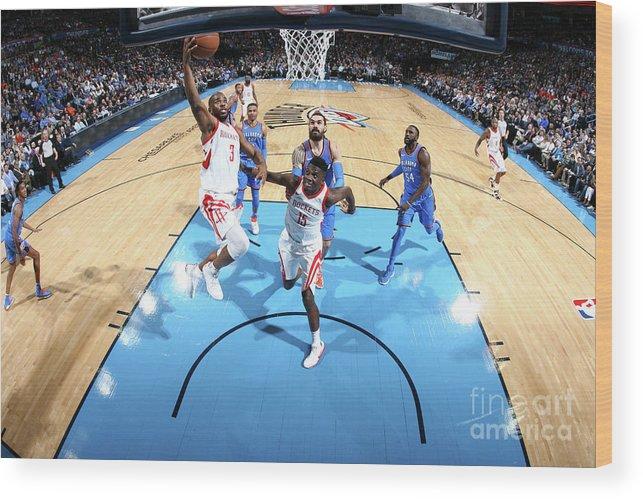 Nba Pro Basketball Wood Print featuring the photograph Chris Paul by Layne Murdoch