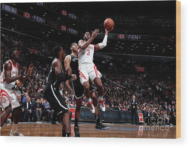 Nba Pro Basketball Wood Print featuring the photograph Chris Paul by Nathaniel S. Butler