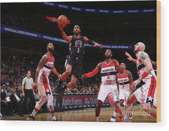 Nba Pro Basketball Wood Print featuring the photograph Chris Paul by Ned Dishman