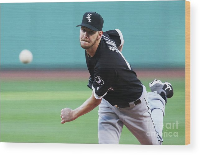 People Wood Print featuring the photograph Chris Sale by Adam Glanzman