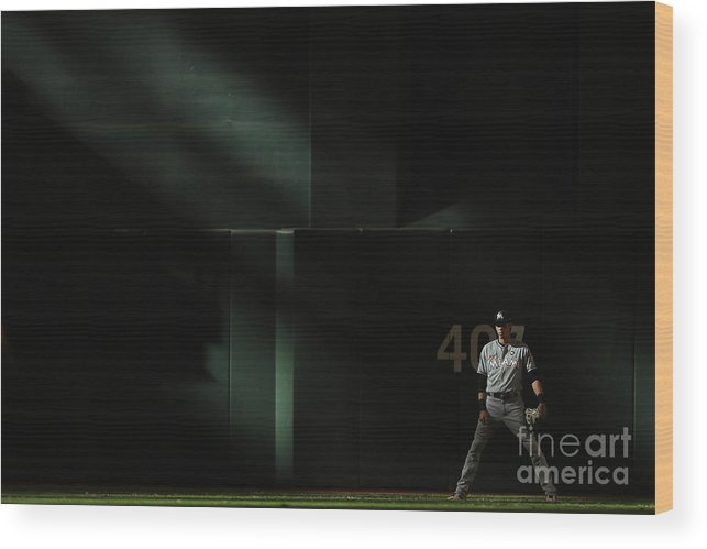 Ninth Inning Wood Print featuring the photograph Christian Yelich by Christian Petersen