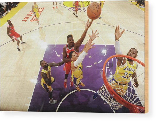 Nba Pro Basketball Wood Print featuring the photograph Clint Capela by Andrew D. Bernstein
