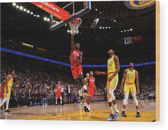 Nba Pro Basketball Wood Print featuring the photograph Clint Capela by Noah Graham
