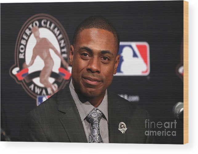 People Wood Print featuring the photograph Curtis Granderson by Elsa