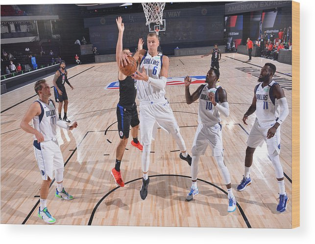 Playoffs Wood Print featuring the photograph Dallas Mavericks v LA Clippers - Game One by David Sherman