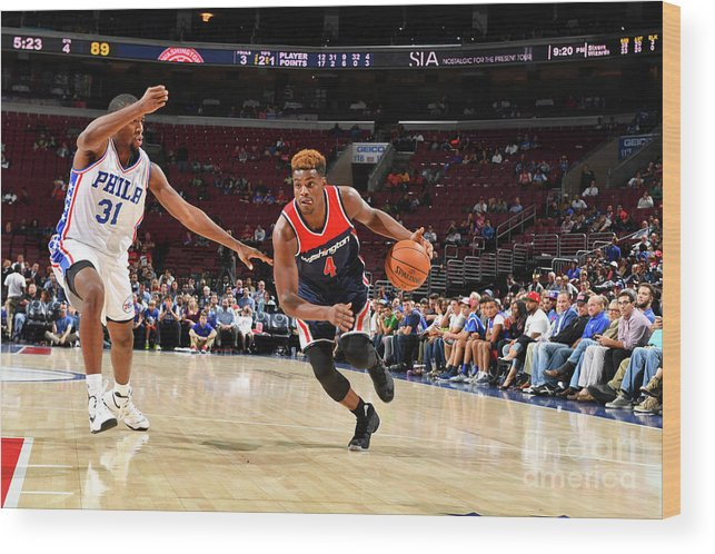Nba Pro Basketball Wood Print featuring the photograph Danuel House by Jesse D. Garrabrant