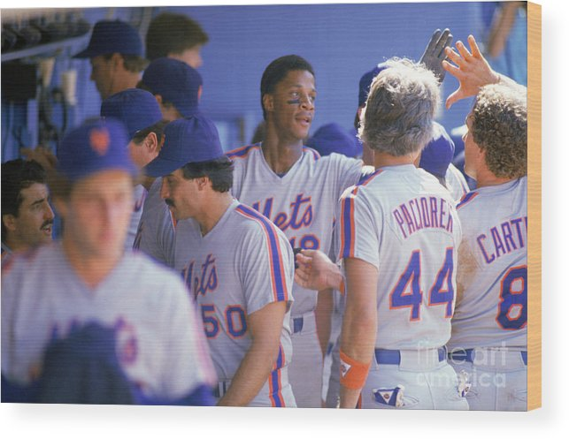 1980-1989 Wood Print featuring the photograph Darryl Strawberry by Andrew D. Bernstein