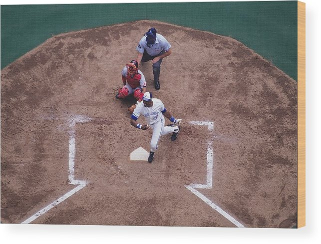 American League Baseball Wood Print featuring the photograph Dave Winfield by Ronald C. Modra/sports Imagery