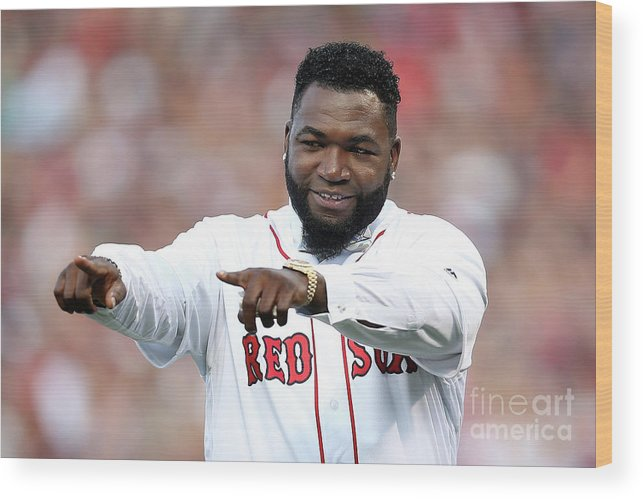 People Wood Print featuring the photograph David Ortiz by Adam Glanzman