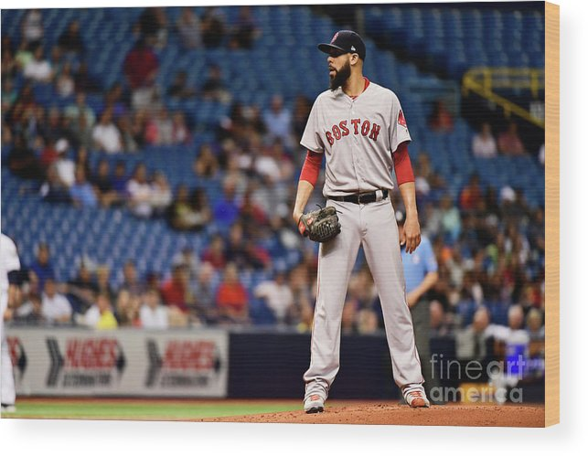 David Price Wood Print featuring the photograph David Price by Julio Aguilar