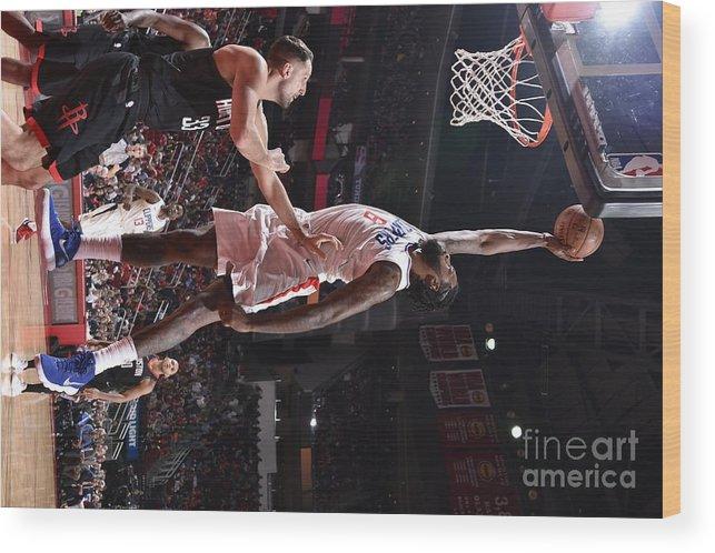 Nba Pro Basketball Wood Print featuring the photograph Deandre Jordan by Bill Baptist