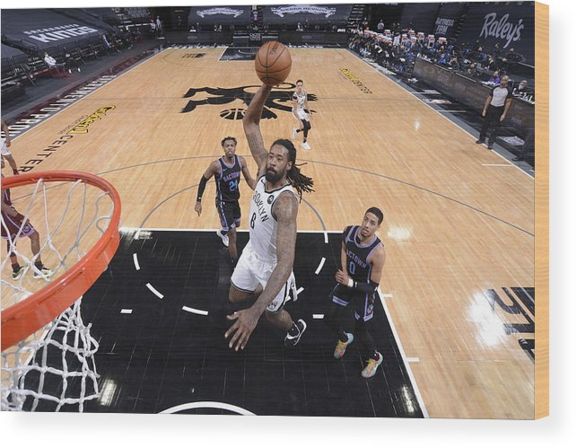 Nba Pro Basketball Wood Print featuring the photograph Deandre Jordan by Rocky Widner
