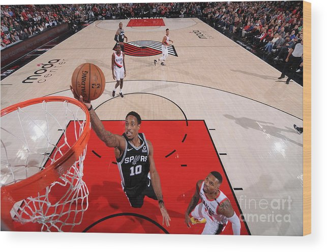 Nba Pro Basketball Wood Print featuring the photograph Demar Derozan by Sam Forencich